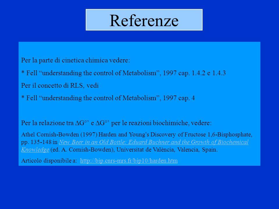 Referenze Per la parte di cinetica chimica vedere: