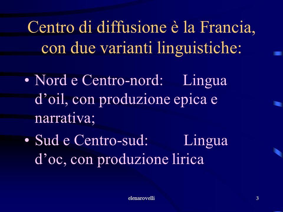 Centro di diffusione è la Francia, con due varianti linguistiche: