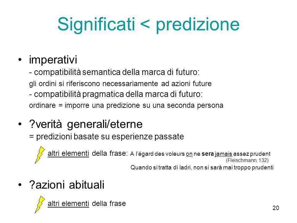 Significati < predizione