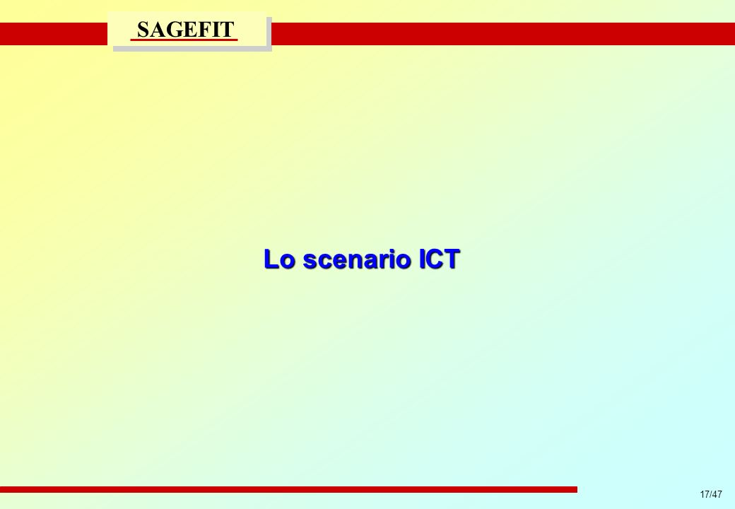 Lo scenario ICT