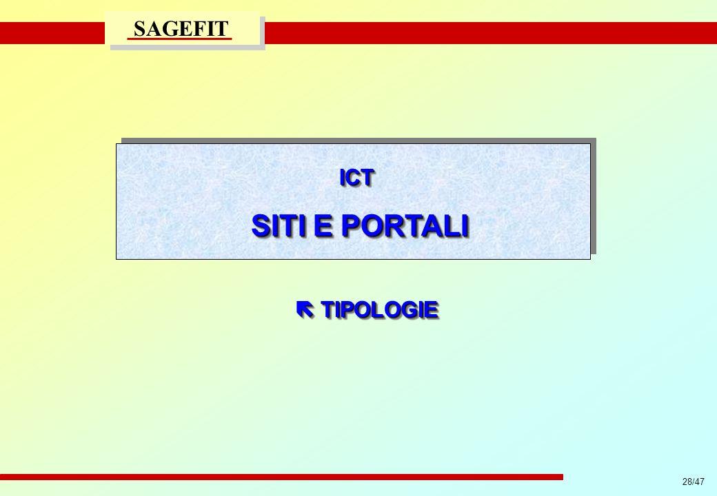 ICT SITI E PORTALI  TIPOLOGIE