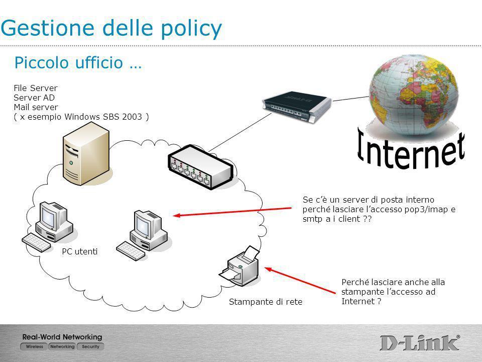 Internet Gestione delle policy Piccolo ufficio …