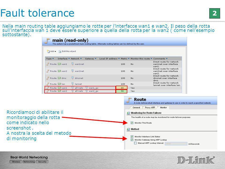 Fault tolerance 2.