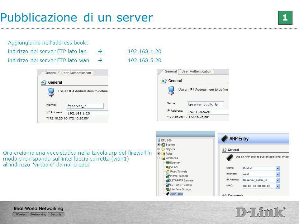 Pubblicazione di un server