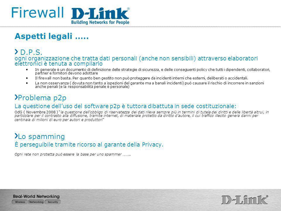 Firewall Aspetti legali …..