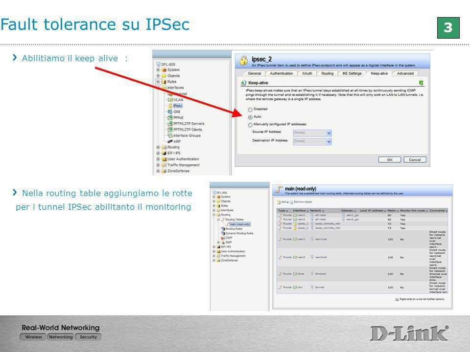 Fault tolerance su IPSec