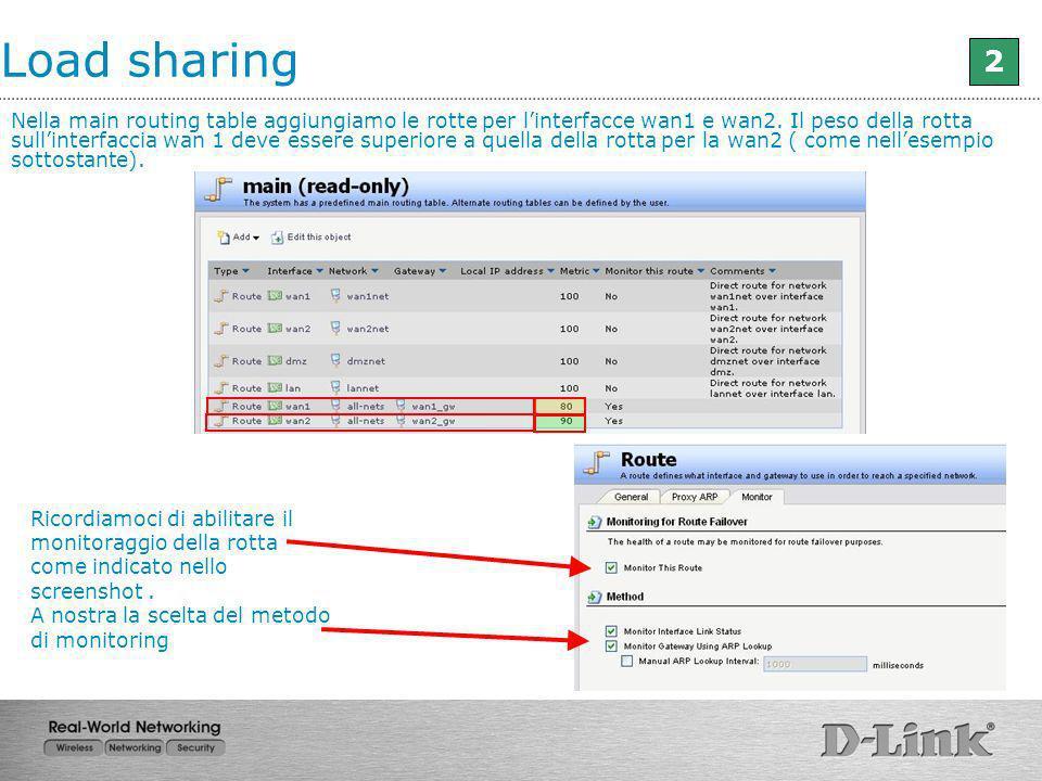 Load sharing 2.
