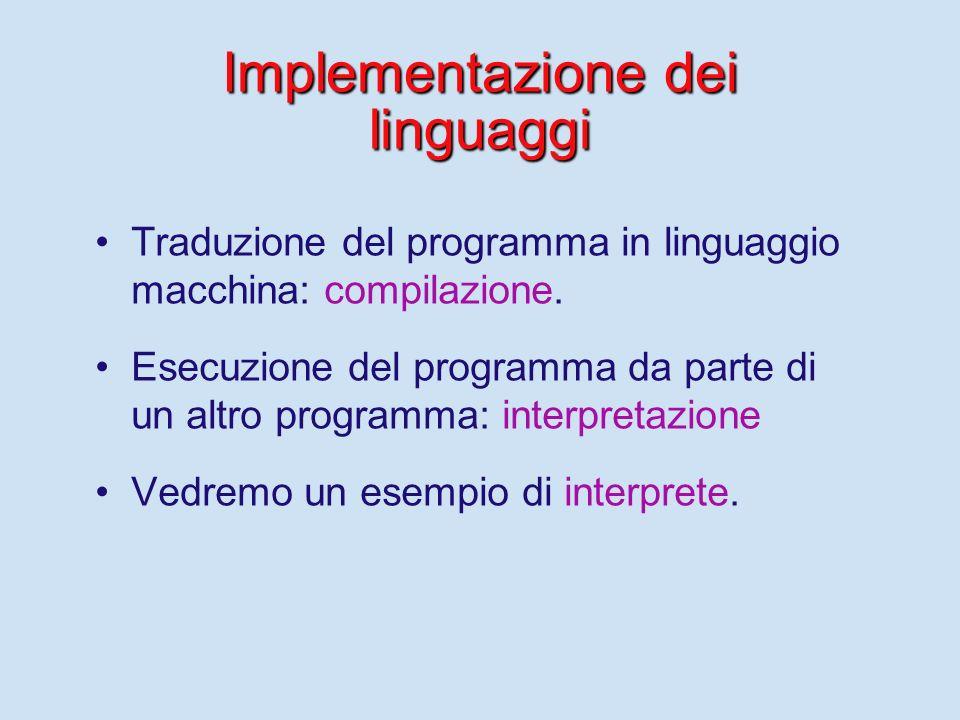 Implementazione dei linguaggi