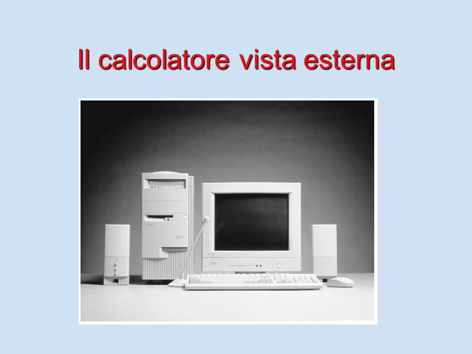 Il calcolatore vista esterna