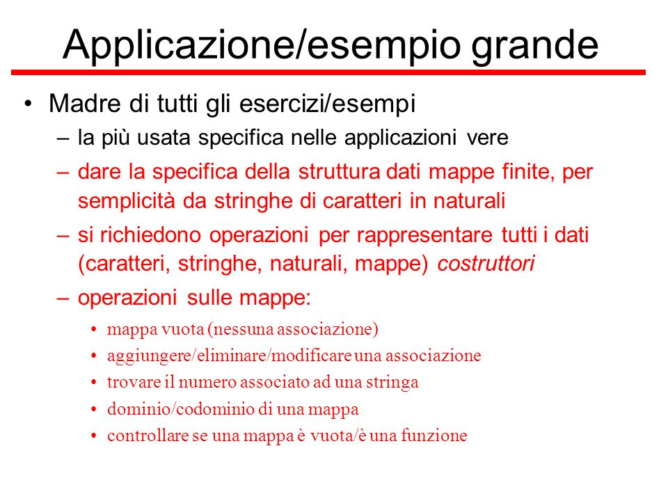 Applicazione/esempio grande
