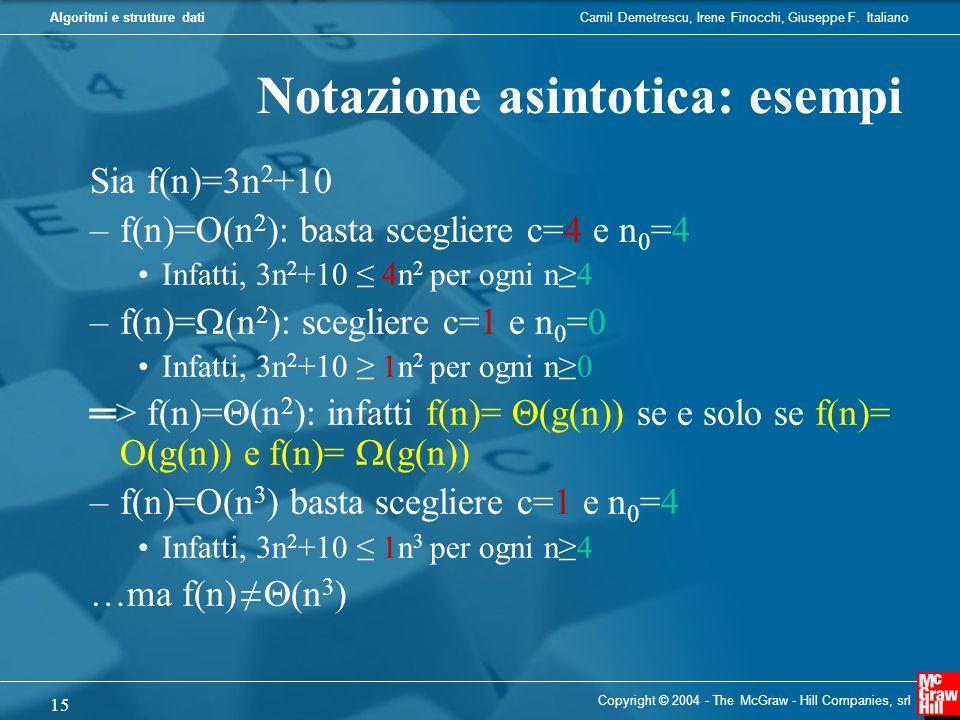 Notazione asintotica: esempi