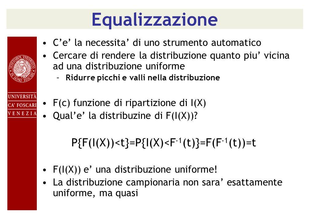 Equalizzazione C'e' la necessita' di uno strumento automatico