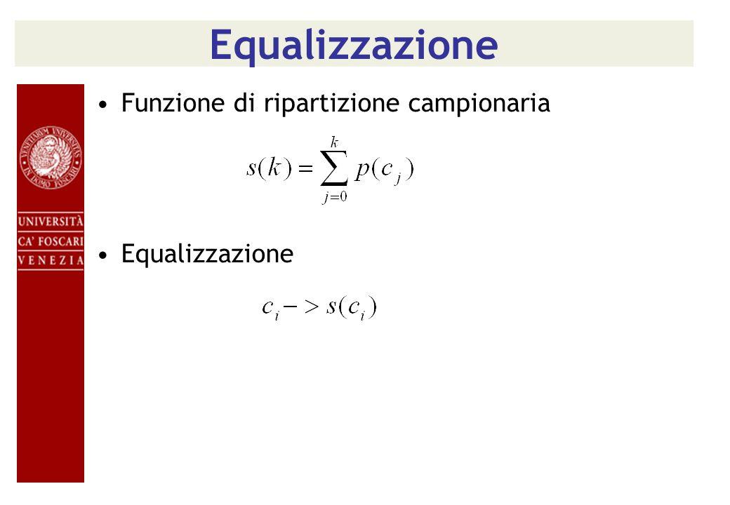 Equalizzazione Funzione di ripartizione campionaria Equalizzazione