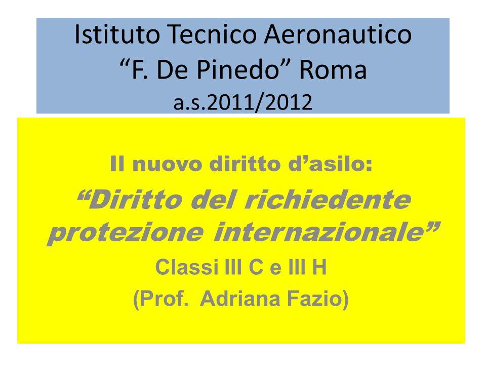 Istituto Tecnico Aeronautico F. De Pinedo Roma a.s.2011/2012