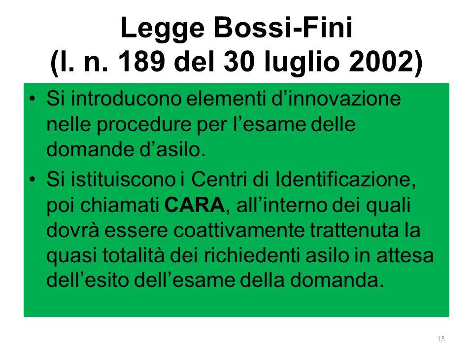 Legge Bossi-Fini (l. n. 189 del 30 luglio 2002)