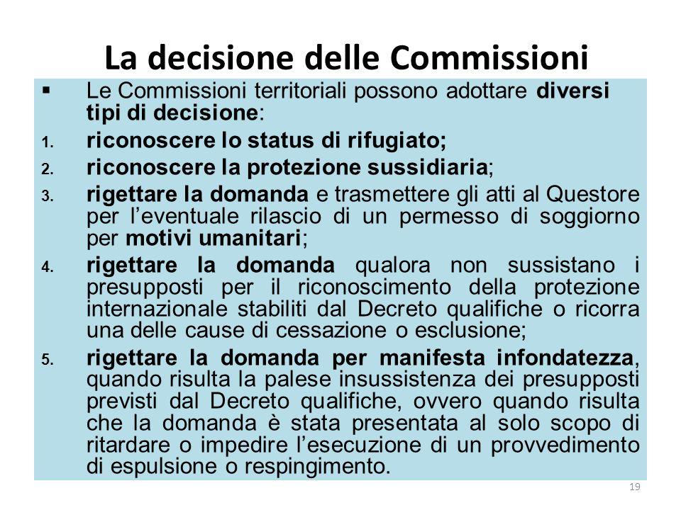 La decisione delle Commissioni