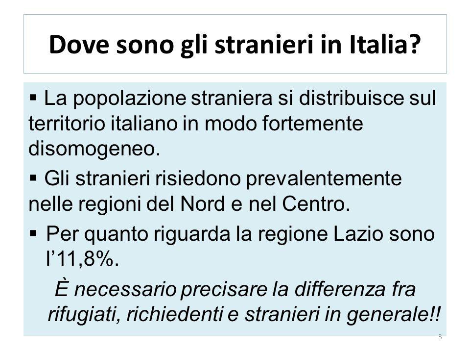 Dove sono gli stranieri in Italia