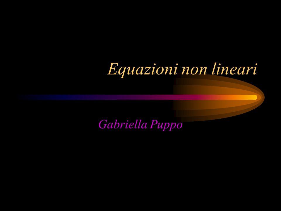 Equazioni non lineari Gabriella Puppo