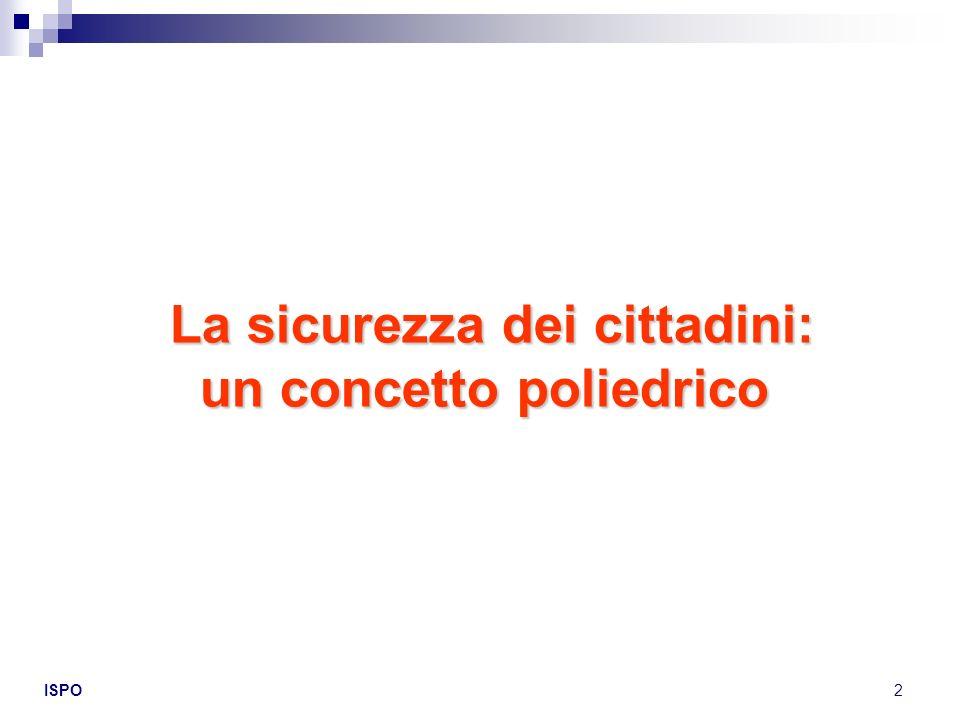 La sicurezza dei cittadini: un concetto poliedrico
