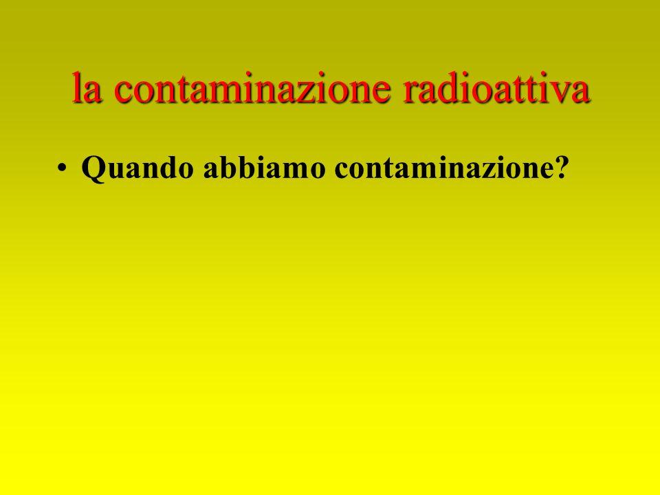la contaminazione radioattiva