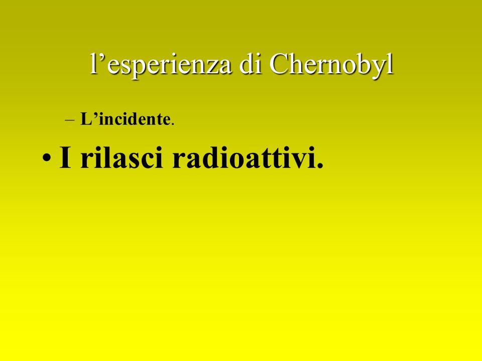 l'esperienza di Chernobyl