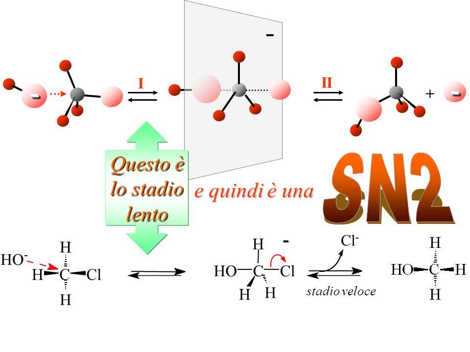 - - SN2 Questo è lo stadio lento e quindi è una - H C O l H C l O I II