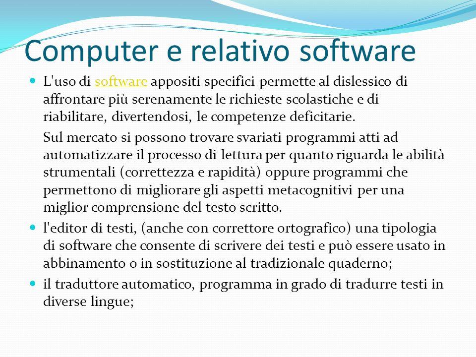 Computer e relativo software
