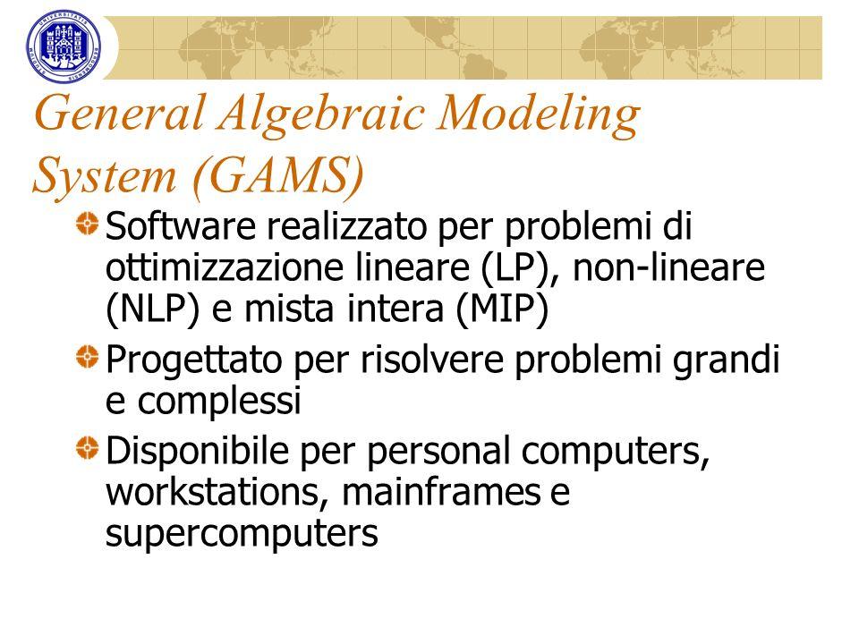 General Algebraic Modeling System (GAMS)