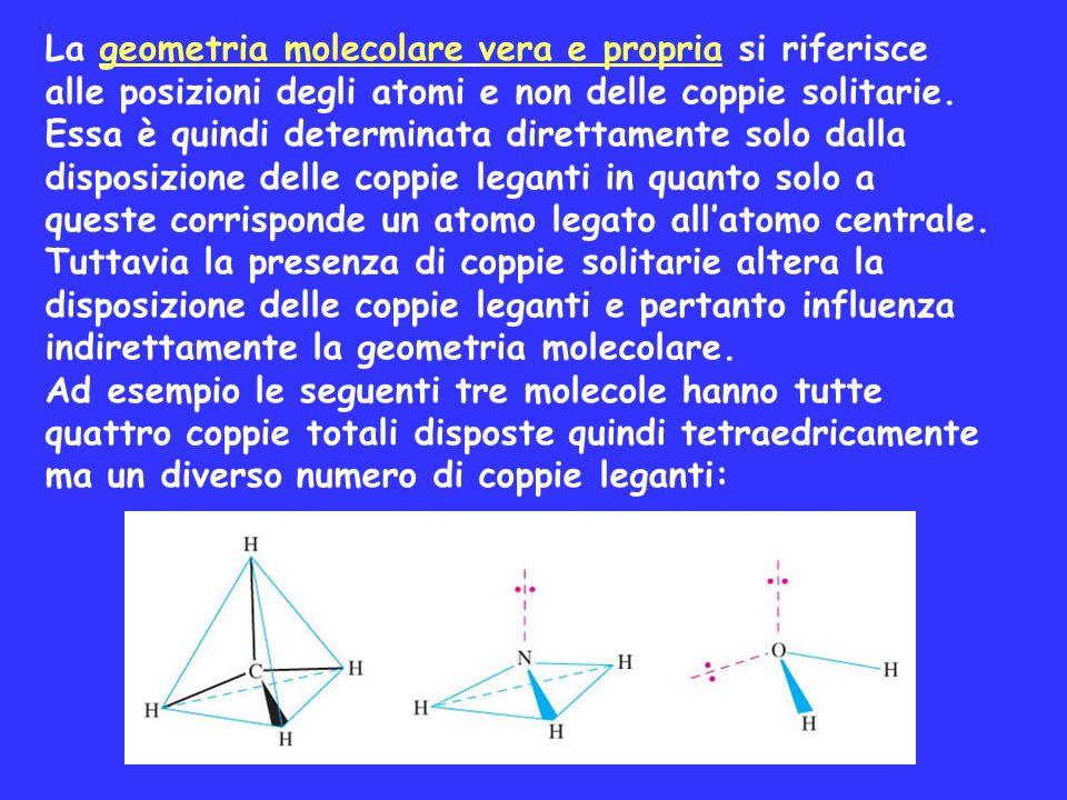 La geometria molecolare vera e propria si riferisce