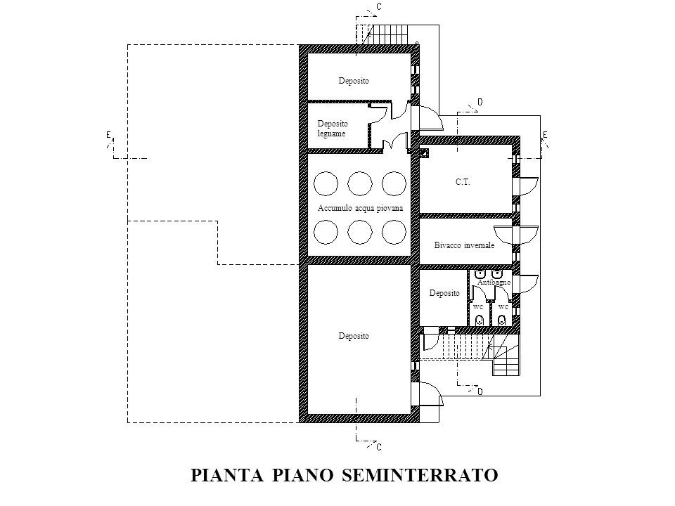 PIANTA PIANO SEMINTERRATO