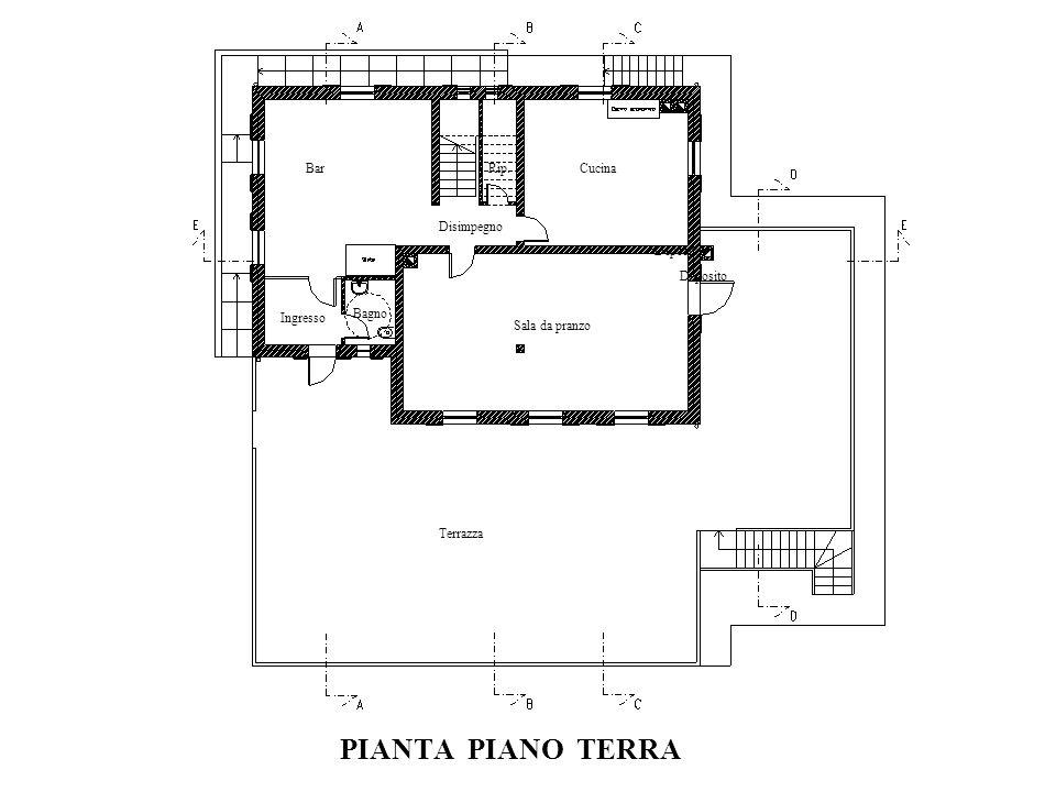 PIANTA PIANO TERRA Bar Rip. Cucina Disimpegno Deposito Deposito