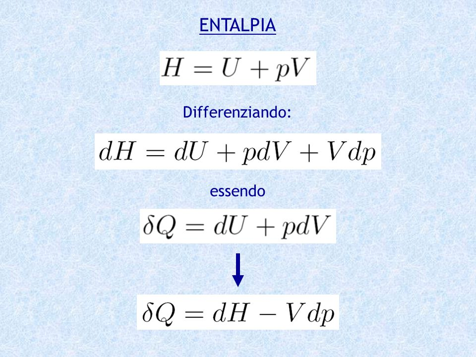 ENTALPIA Differenziando: essendo