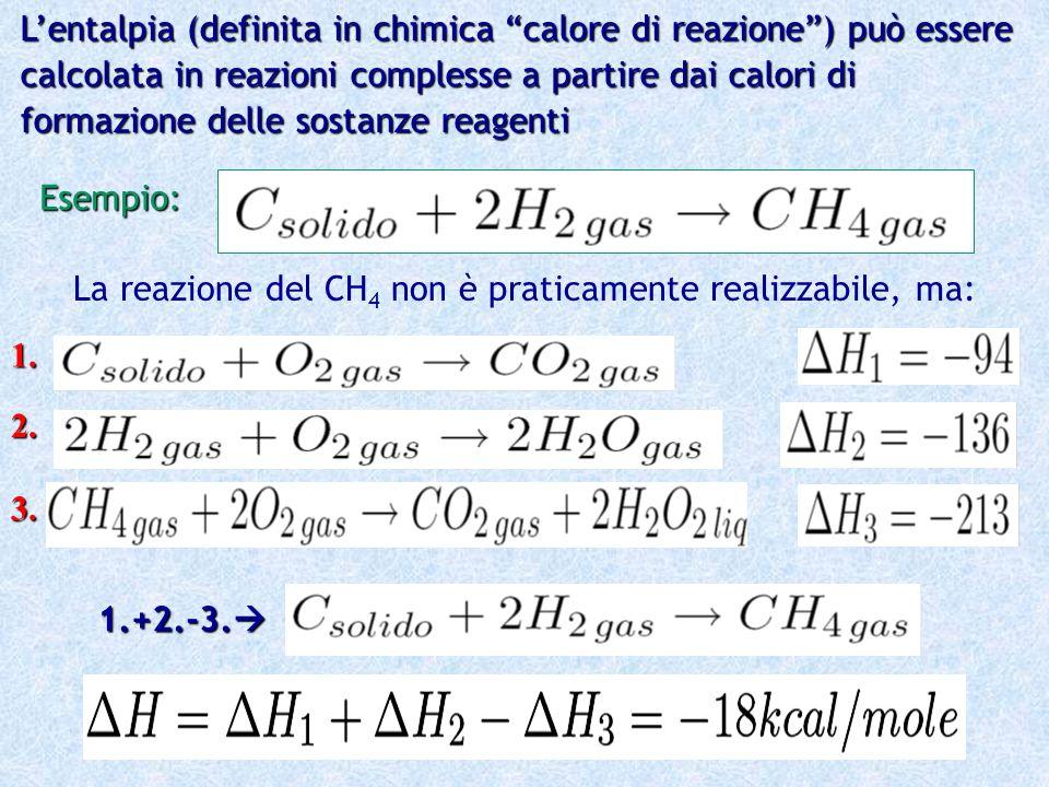 L'entalpia (definita in chimica calore di reazione ) può essere