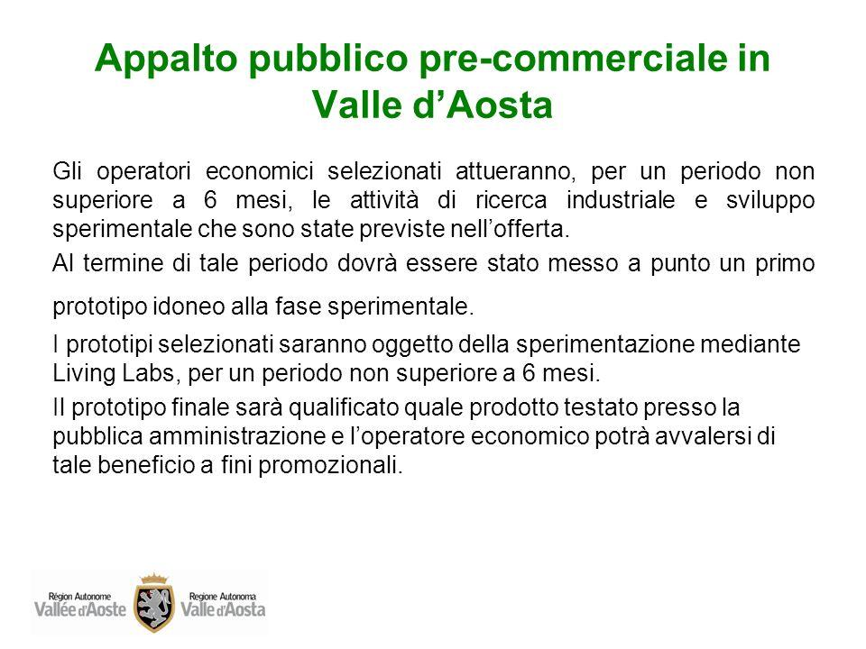 Appalto pubblico pre-commerciale in Valle d'Aosta