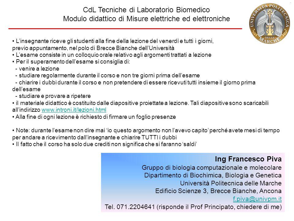 CdL Tecniche di Laboratorio Biomedico