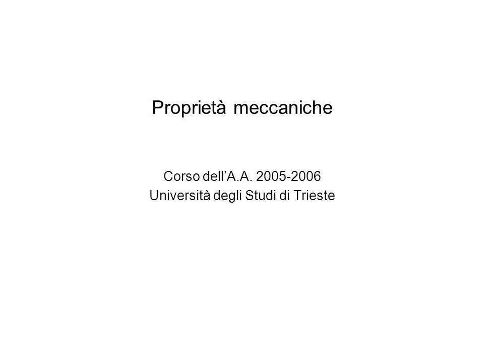 Corso dell'A.A. 2005-2006 Università degli Studi di Trieste