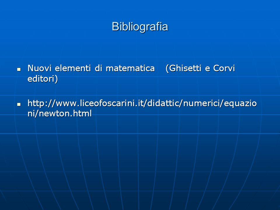 Bibliografia Nuovi elementi di matematica (Ghisetti e Corvi editori)