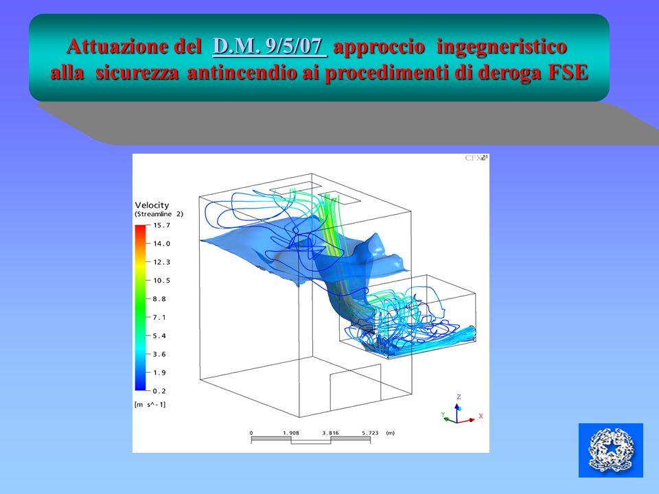 Attuazione del D.M. 9/5/07 approccio ingegneristico