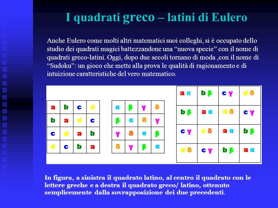 I quadrati greco – latini di Eulero