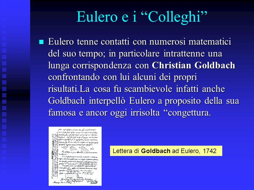 Eulero e i Colleghi