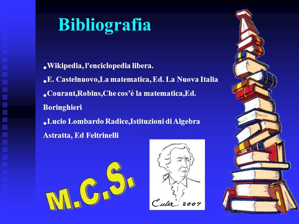 Bibliografia M.C.S. Wikipedia, l enciclopedia libera.