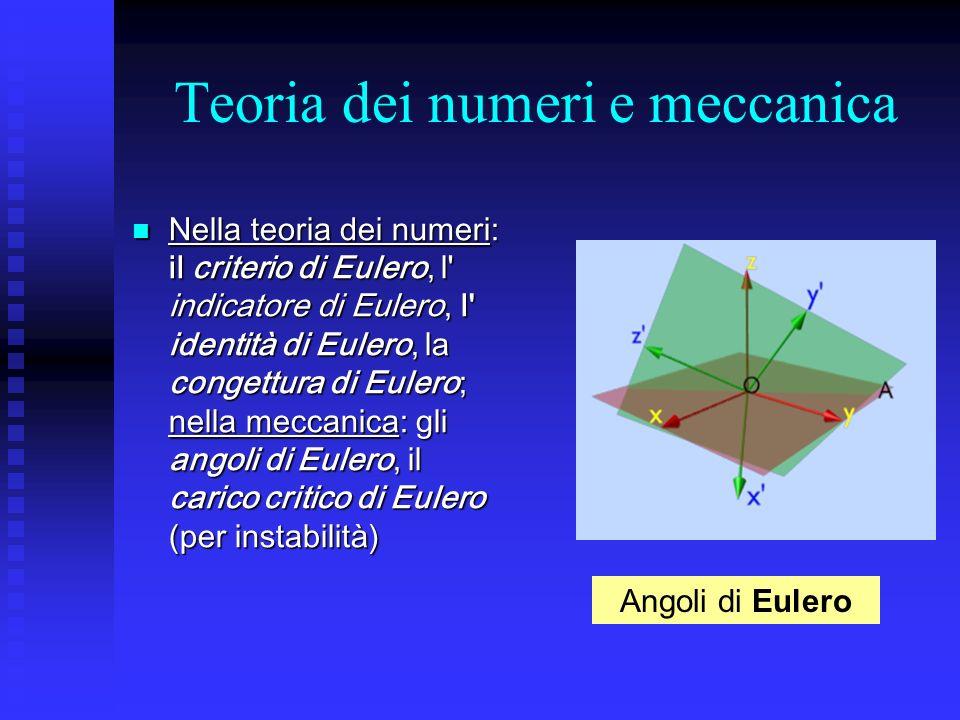 Teoria dei numeri e meccanica