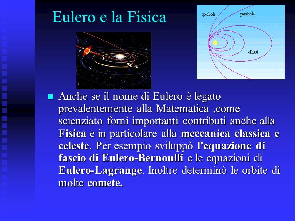 Eulero e la Fisica