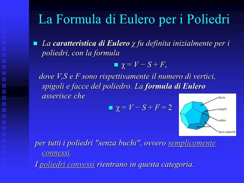 La Formula di Eulero per i Poliedri