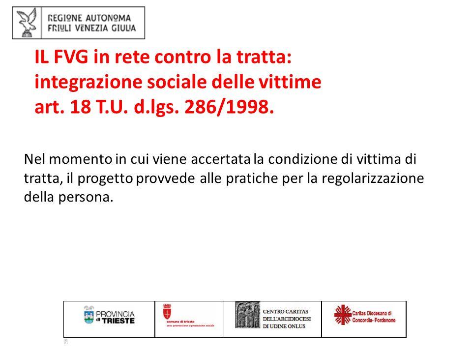 IL FVG in rete contro la tratta: integrazione sociale delle vittime