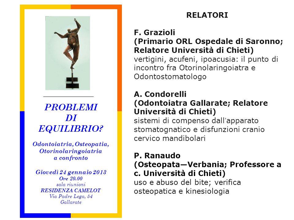 Odontoiatria, Osteopatia, Otorinolaringoiatria