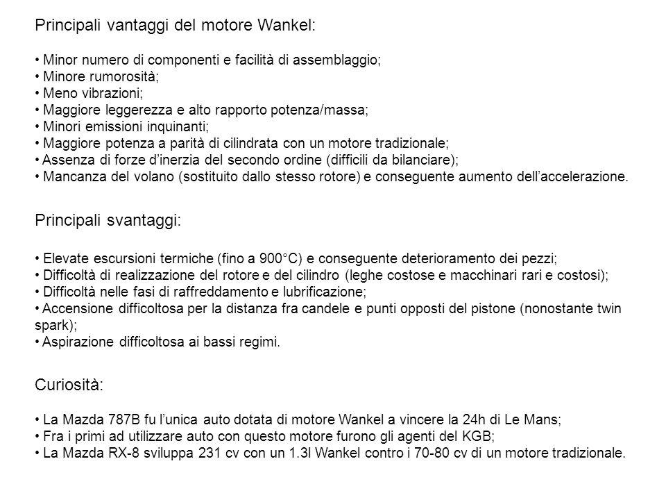 Principali vantaggi del motore Wankel: