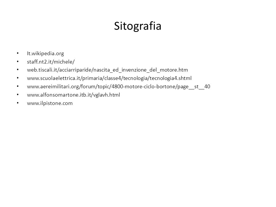 Sitografia It.wikipedia.org staff.nt2.it/michele/
