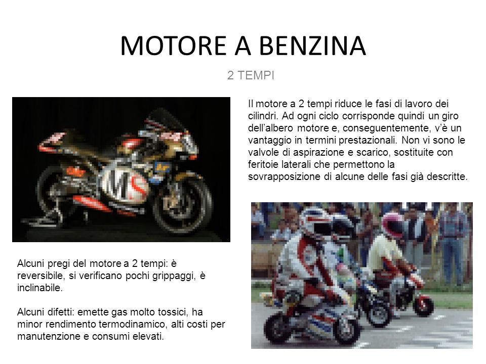 MOTORE A BENZINA2 TEMPI.