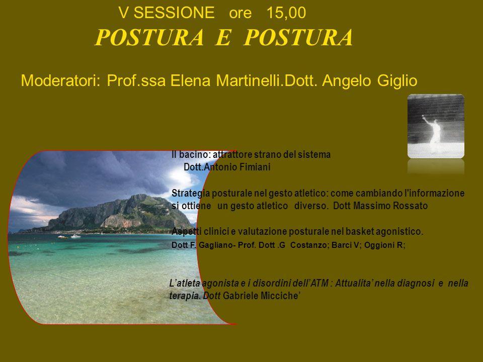 POSTURA E POSTURA V SESSIONE ore 15,00